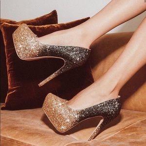 Steve Madden Dalya Silver Platform Heels